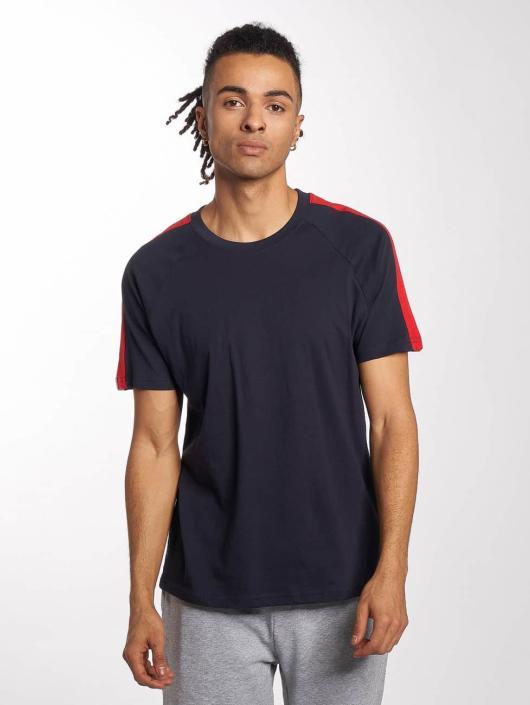 Urban Classics T-Shirt Stripe Raglan blau