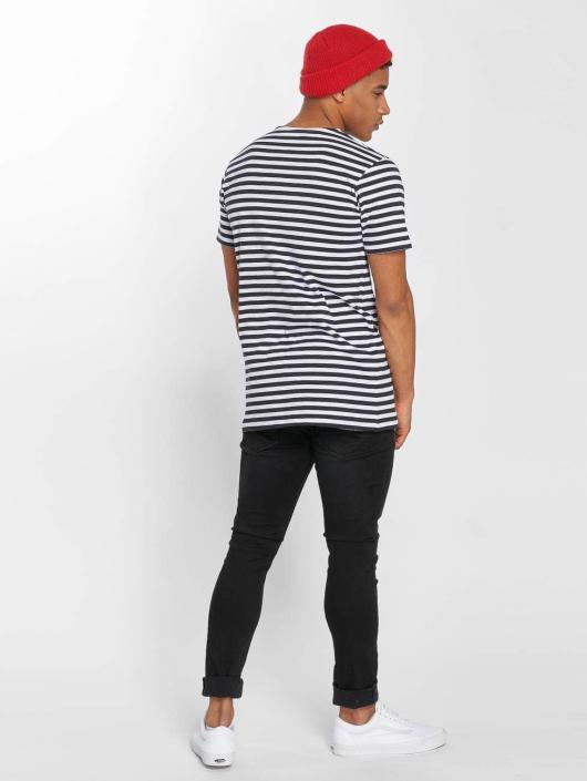 Urban Classics T-Shirt Stripe blau