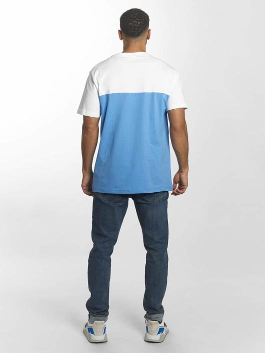 Urban Classics T-Shirt Color Block Summer Pocket blue