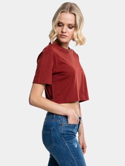 Classics Femme shirt T Urban Brun Cropped 399106 Ygbf67y