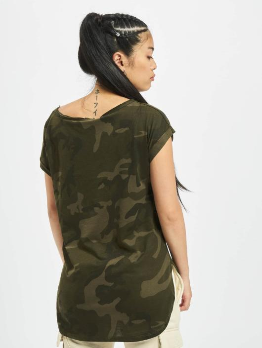 urban classics camo back shaped camouflage femme t shirt 494609. Black Bedroom Furniture Sets. Home Design Ideas