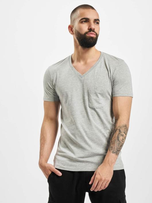 Urban Classics T-Shirt Pocket grau