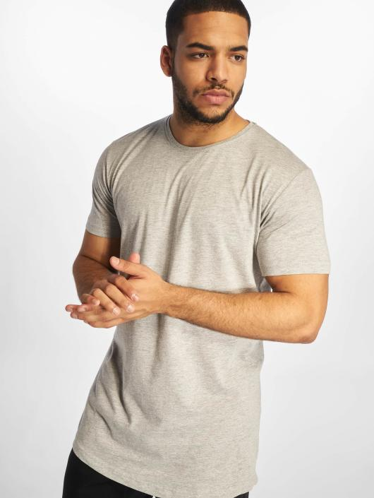 1ead5d3acbf1 Urban Classics Herren T-Shirt Shaped Long in grau 125755