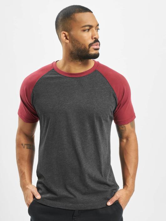 Urban Classics T-Shirt Raglan Contrast grau