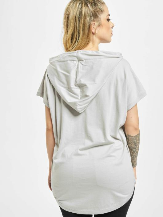 Urban Classics T-Shirt Jersey Hooded grau