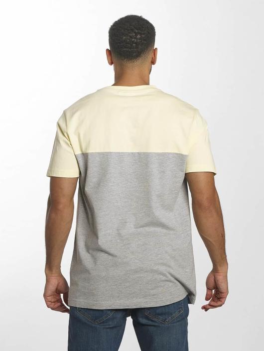 Urban Classics T-Shirt Color Block Summer Pocket grau