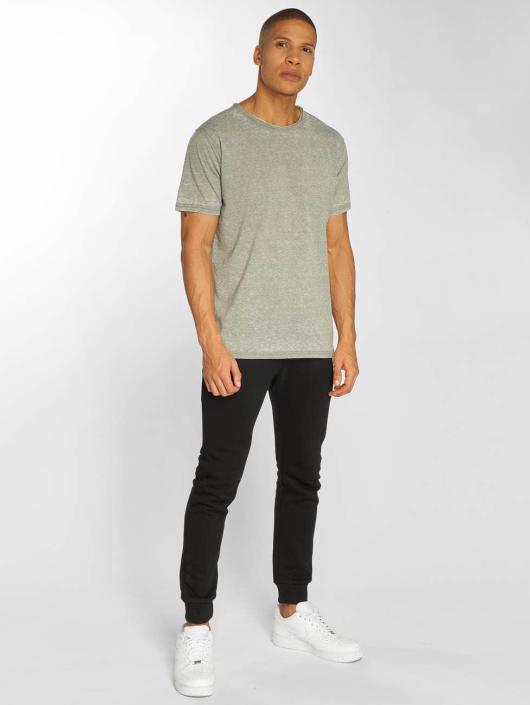 Urban Classics T-Shirt Stripe Burn Out grau