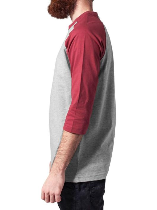 Urban Classics T-Shirt Contrast 34 Sleeve Raglan grau