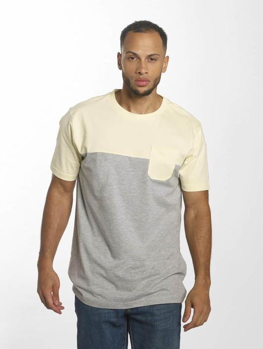 Urban Classics T-Shirt Color Block Summer Pocket gray