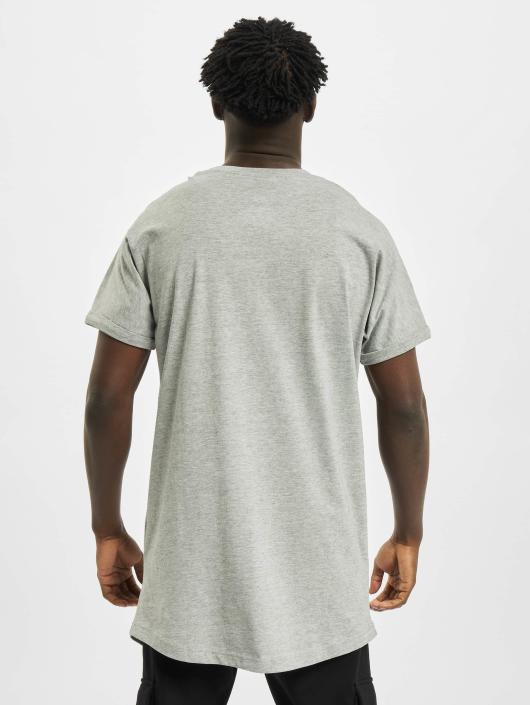 Urban Classics T-Shirt Long Shaped Turnup grey