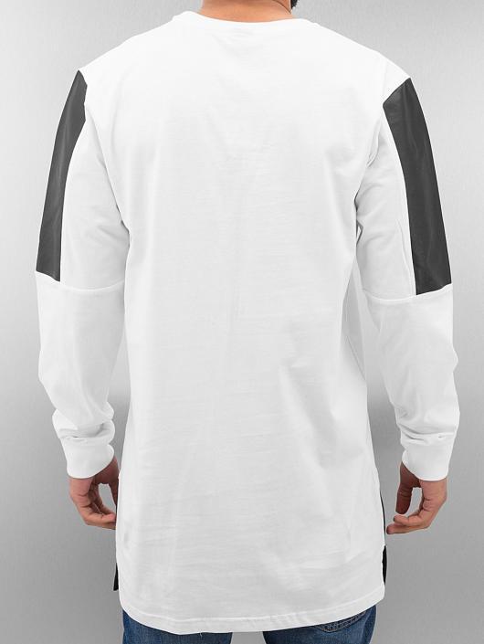 Classics T Manches Leather shirt Imitation Urban Blanc Block Longues 183815 Homme UMqzpGSV