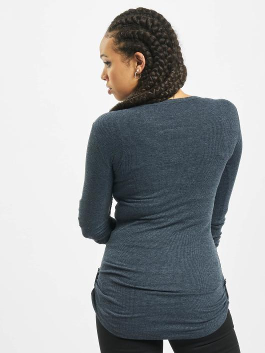 Femme Manches Longues Classics Long Urban 293762 Turnup Pocket Rib Indigo T shirt R3Ac54jLq