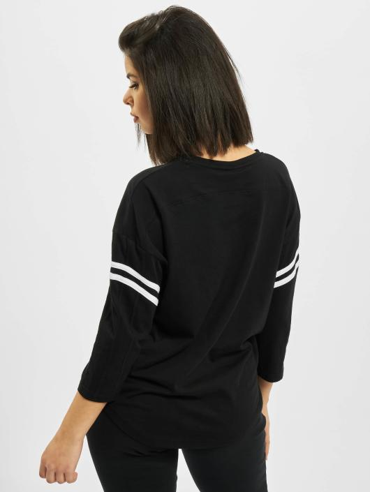 Urban Classics T-Shirt manches longues Sleeve Striped noir