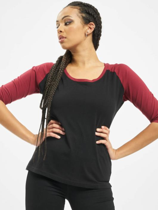e764654a8f2 ... Urban Classics T-Shirt manches longues Ladies 3 4 Contrast Raglan noir  ...