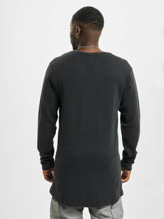 Urban Classics T-Shirt manches longues Acid Washed noir