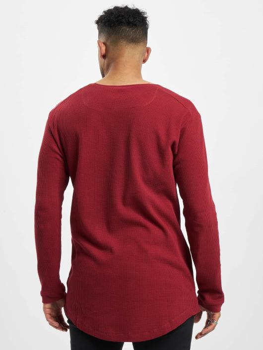 Urban 293681 T shirt Rouge Manches Classics Shaped Homme Waffle Longues Long PwknO08X