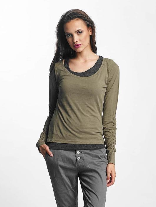 Longues Femme 400653 Two shirt Colored T Urban Vert Manches Classics QdCsthr