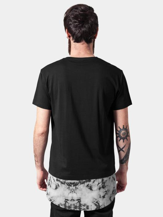 Urban Classics T-shirt Long Shaped Marble nero