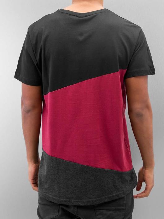 Urban Classics T-shirt Long Shaped Zig Zag nero
