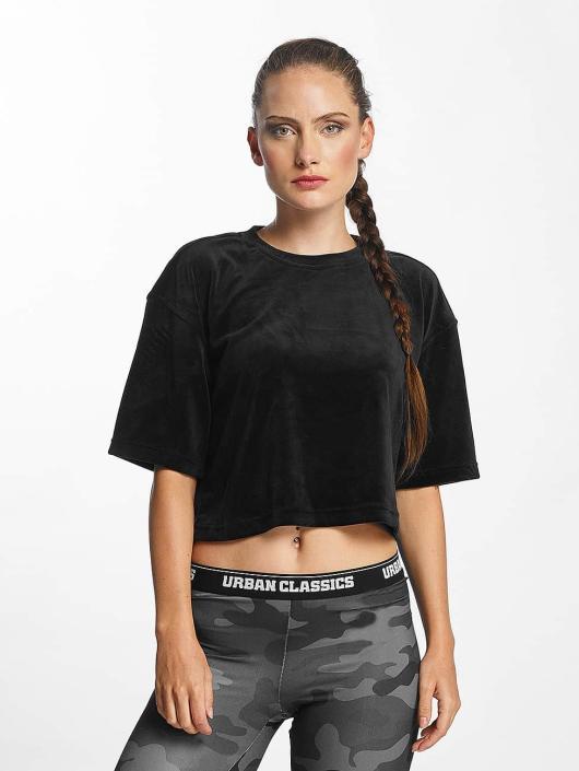 Urban Classics T-Shirt Velvet Short Kimono noir