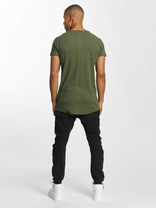 Urban Classics T-shirt Thermal Slub oliva