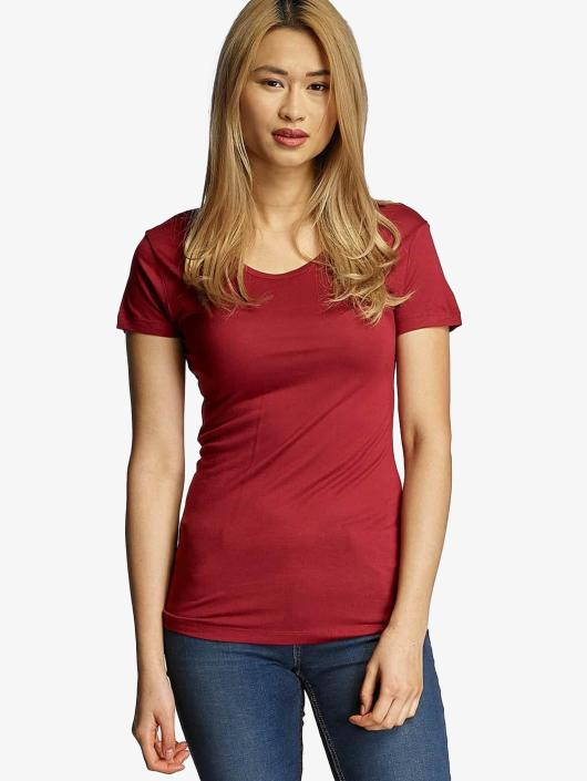 Urban Classics T-Shirt Ladies Basic Viscose red
