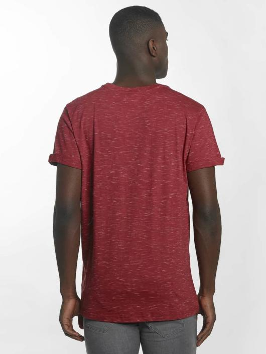 Urban Classics T-shirt Space Dye Turnup röd