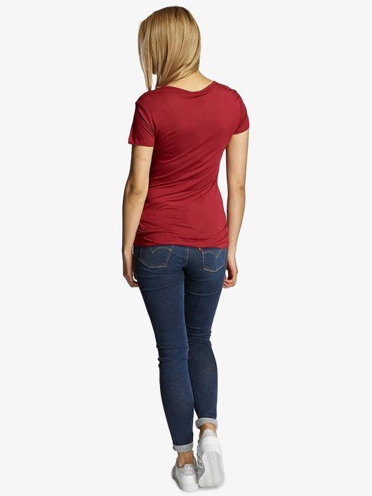 Urban Classics T-Shirt Ladies Basic Viscose rot
