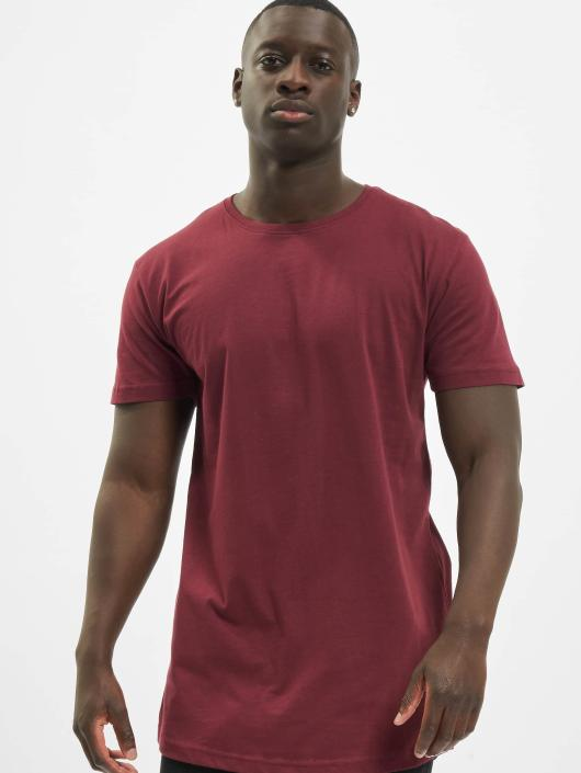 e145d1423b7054 Urban Classics Herren T-Shirt Shaped Oversized Long in rot 401217