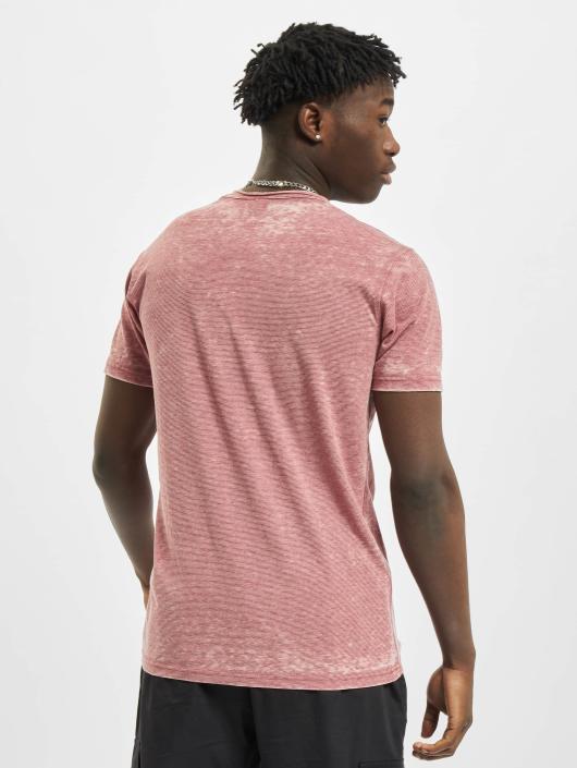 Urban Classics T-Shirt Stripe Burn Out rot
