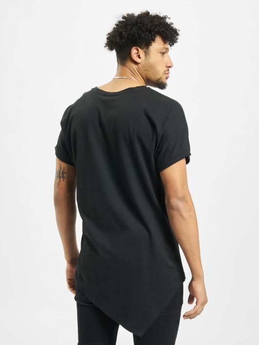 Urban Classics T-Shirt Asymetric Long schwarz