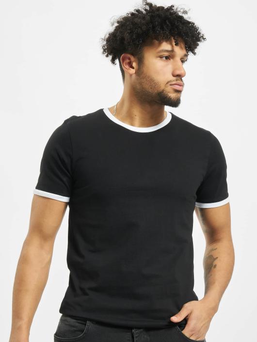 Urban Classics T-Shirt Ringer schwarz
