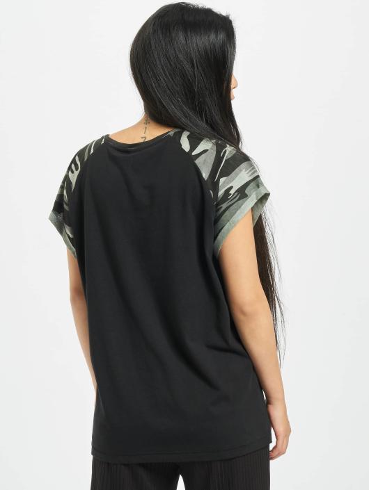Urban Classics T-Shirt Contrast Raglan schwarz