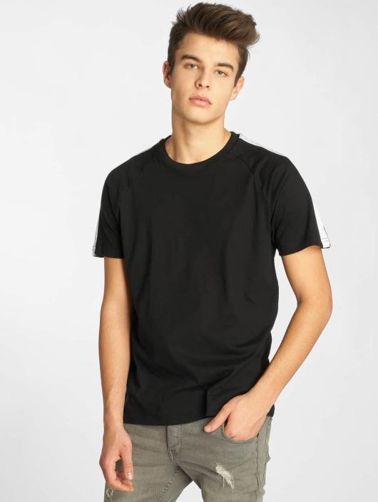Urban Classics T-Shirt Stripe Raglan schwarz