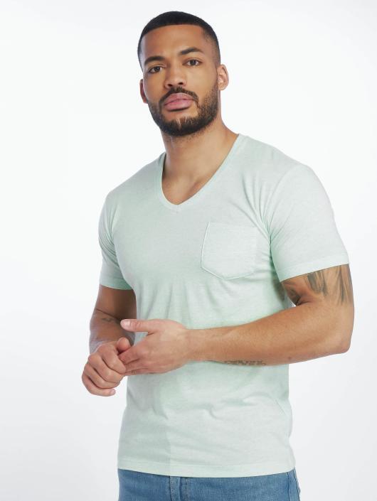 Urban Classics T-Shirt Melange Pocket türkis
