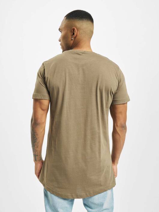 Urban Classics T-shirt Shaped Oversized Long verde