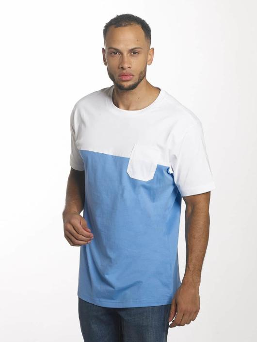 Urban Classics T-shirts Color Block Summer Pocket blå