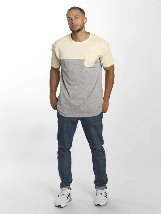 Urban Classics T-shirts Color Block Summer Pocket grå