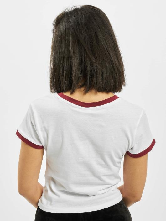 Urban Classics T-Shirty Ladies Cropped Ringer bialy