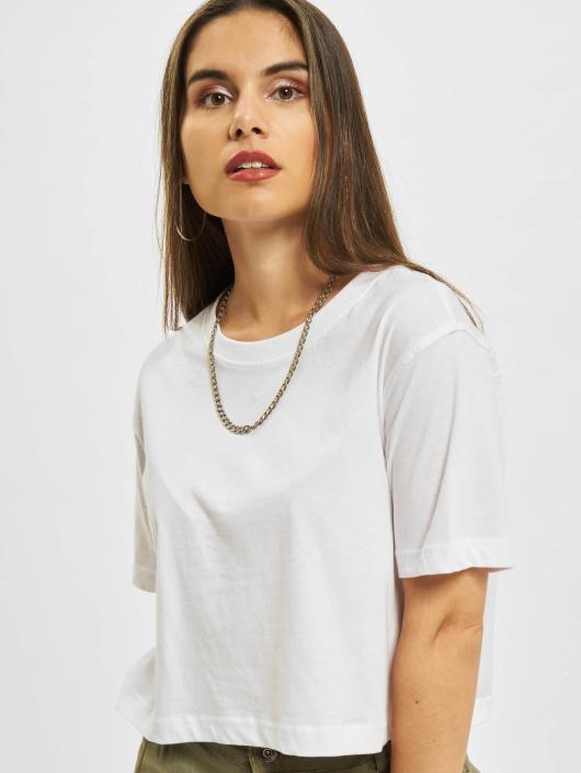 Urban Classics T-Shirty Ladies Oversized Short bialy