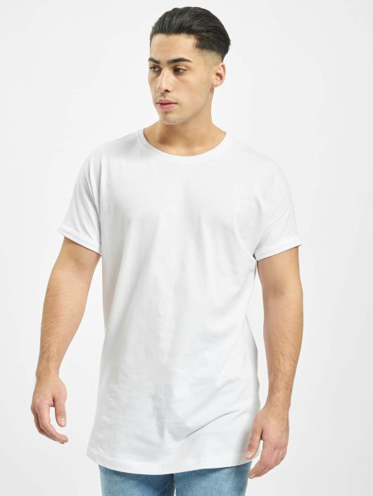 Urban Classics T-Shirty Long Shaped Turnup bialy