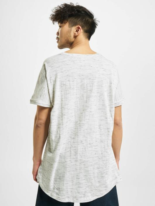 Urban Classics T-Shirty Long Space Dye Turn Up bialy