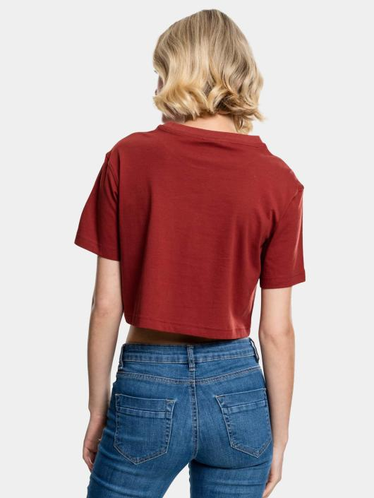 Urban Classics T-Shirty Cropped brazowy