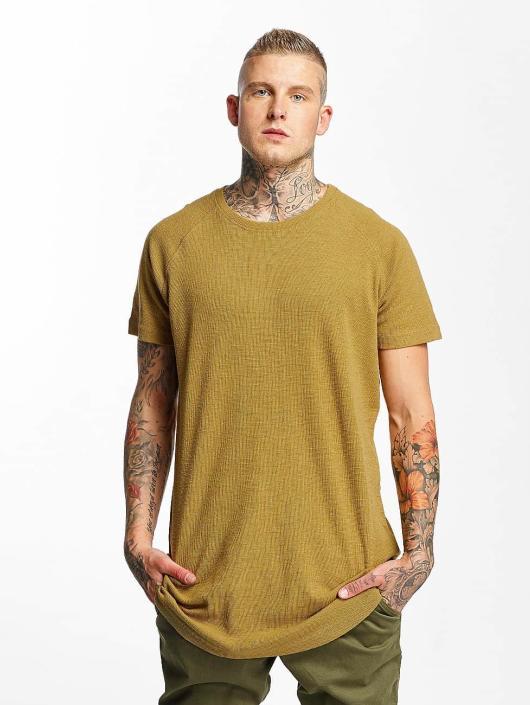 Urban Classics T-Shirty Thermal Slub Raglan brazowy