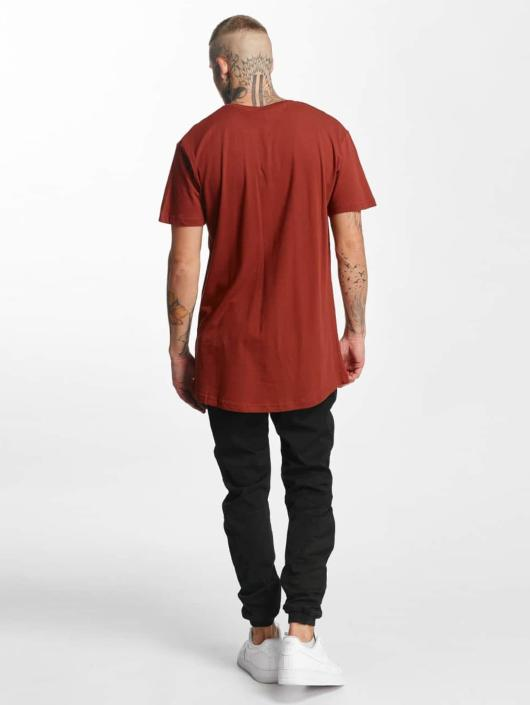 Urban Classics T-Shirty Shaped Oversized Long brazowy