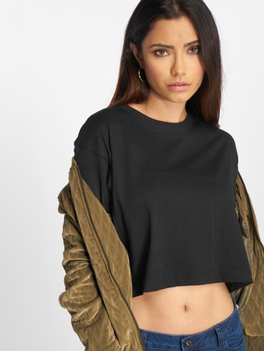 Urban Classics T-Shirty Ladies Oversized Short czarny