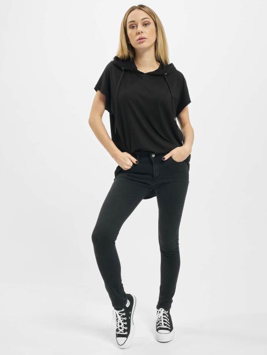 Urban Classics T-Shirty Jersey Hooded czarny