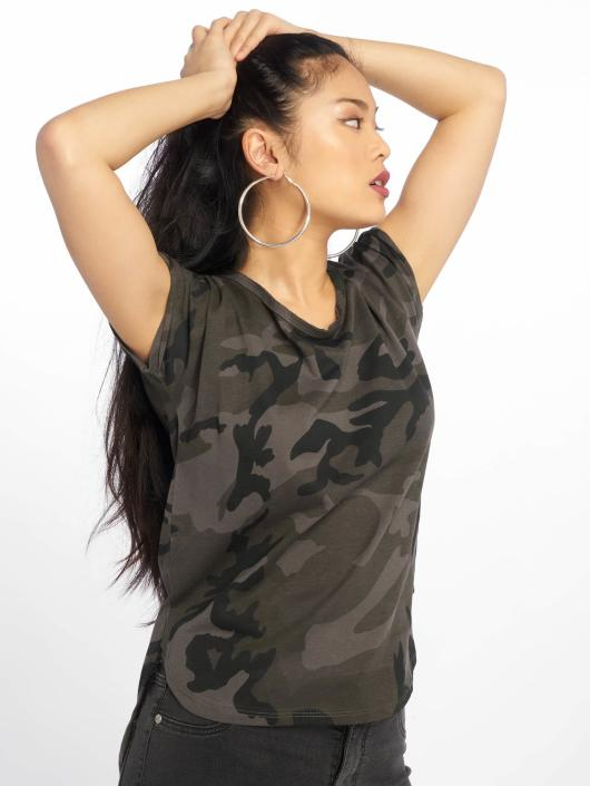 Urban Classics T-Shirty Camo Back Shaped moro