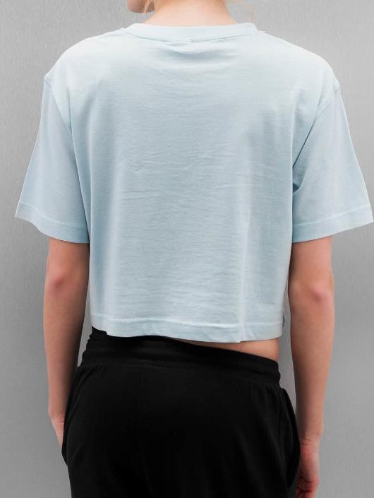 Urban Classics T-Shirty Ladies Oversized Short niebieski