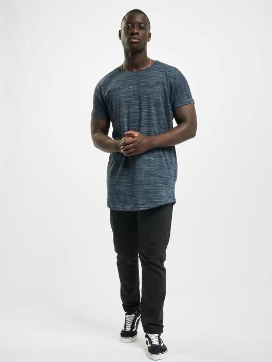 Urban Classics T-Shirty Long Space Dye Turn Up niebieski